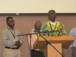 (l-r) Damien Pelende (DR Congo), ED Solomon (India), Nzash Lumeya (U.S.).