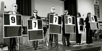 """New Hope members revealed fundraised amount in """"Deal or No Deal""""-styled presentations. Photo: Ally Braun"""