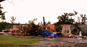 A home in Shawnee, Okla., destroyed by the May 19 tornado. Photo courtesy MDS