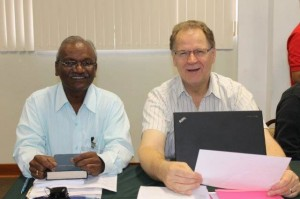 India representative E.T. David and MB Mission representative Vic Martens.