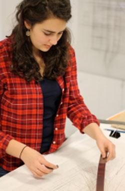 "Diana Hiebert working on ""Creating Spaces"" Photo: Jessica Hurd"