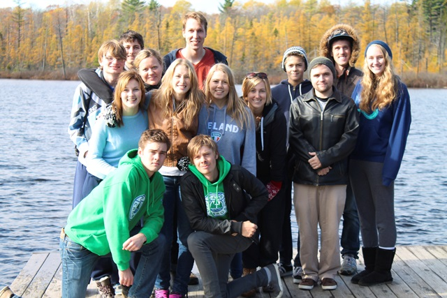 Participants in the annual ONMB youth leaders retreat at Camp Crossroads. Photo: Sabrina Wiens
