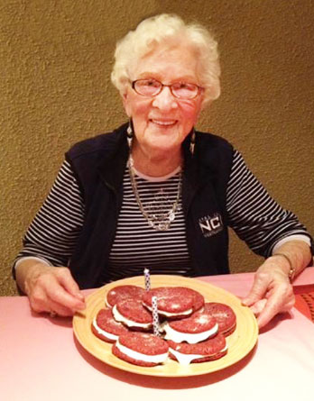 Anne Kroeker on her 93rd birthday. Photo: courtesy Anne Kroeker