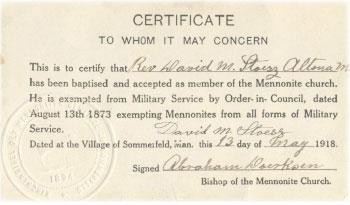 Menno-Certificate