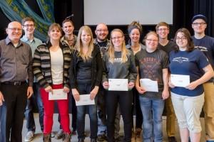 Bethany College's 2014 scholarship and bursary recipients.