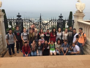 MBCI students with their Palestinian and Israeli host students in Haifa.