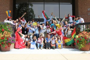 Delegates at Mennonite World Conference's Global Youth Summit display their international origins.
