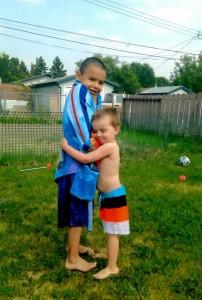Tyrone and Marshall. Photo courtesy Julie Carey.