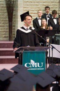 Valedictorian Jonas Cornelsen. PHOTO courtesy of CMU.